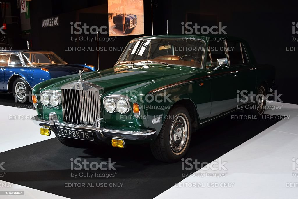 Rolls-Royce Silver Shadow on the motor show stock photo