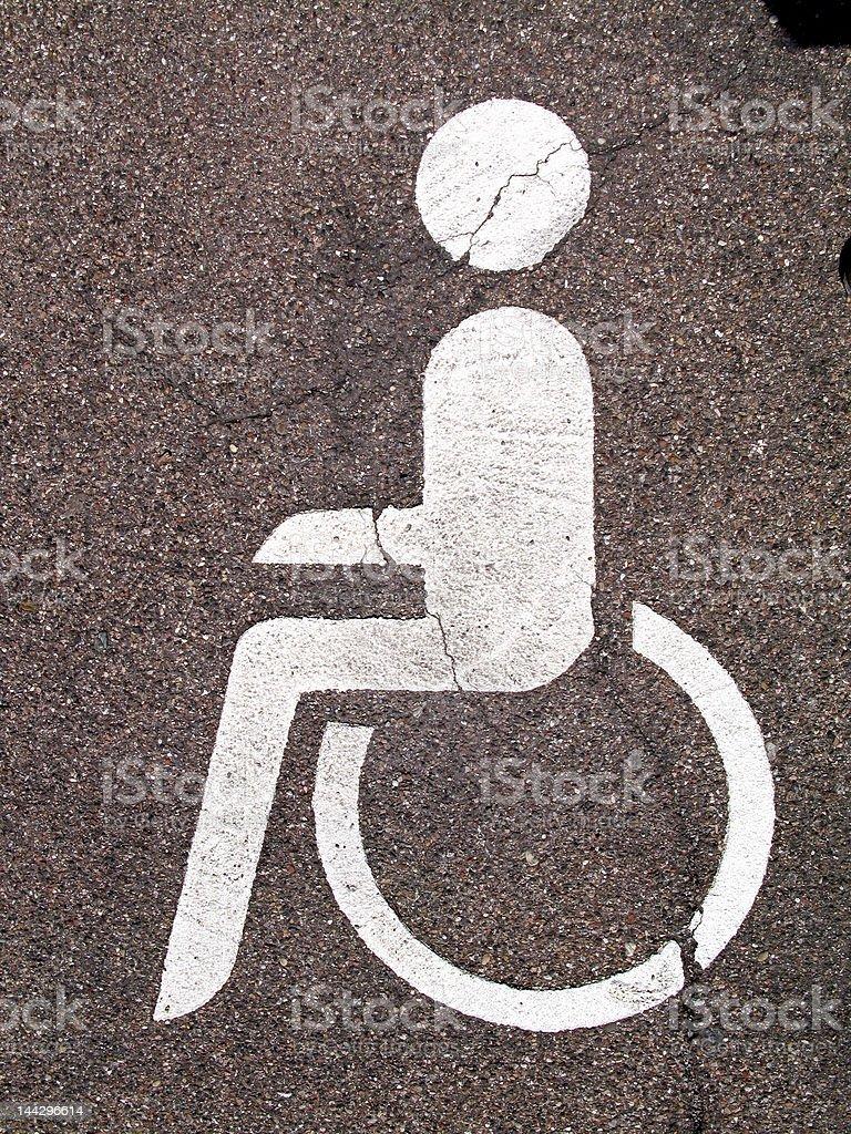Rollstuhlfahrer-Pictogram royalty-free stock photo