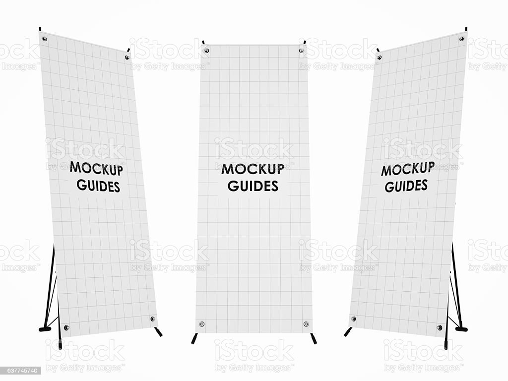 Roll-up Banner mockup. stock photo