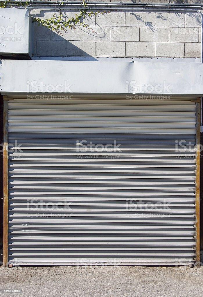 Rollup Door stock photo