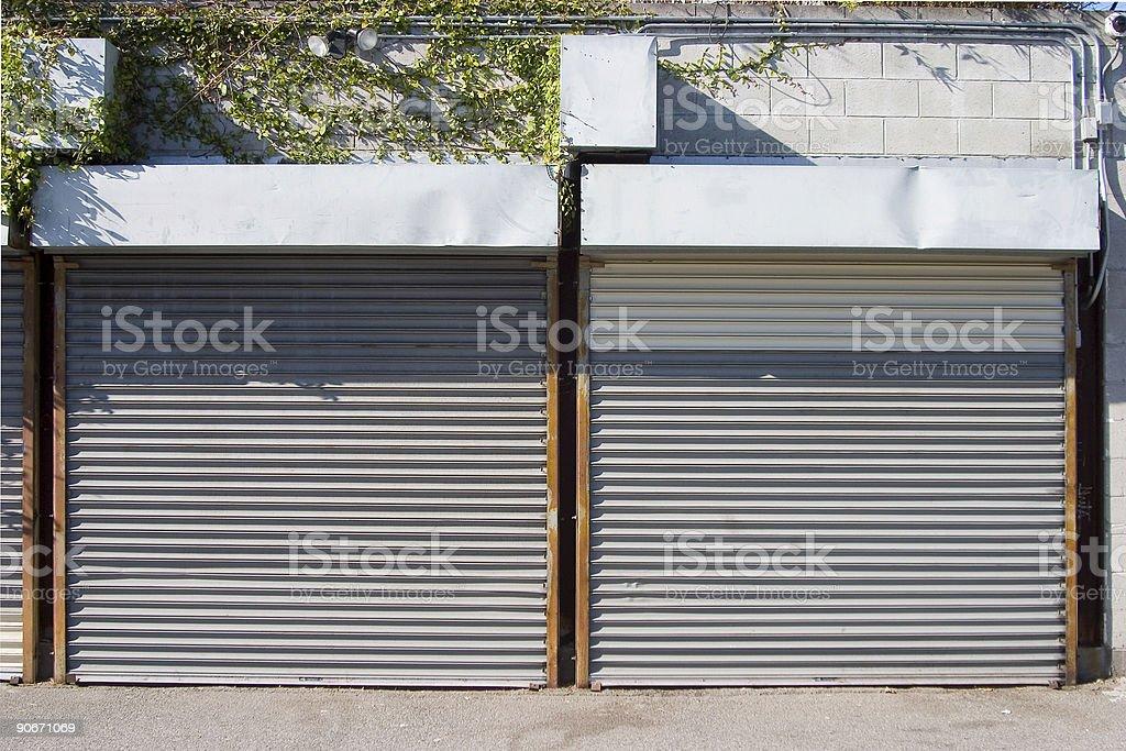 Rollup Doors 1 stock photo