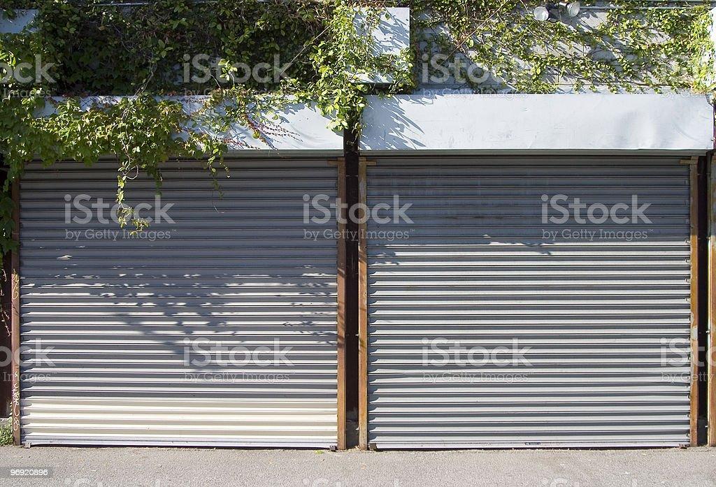 Rollup Doors 2 stock photo