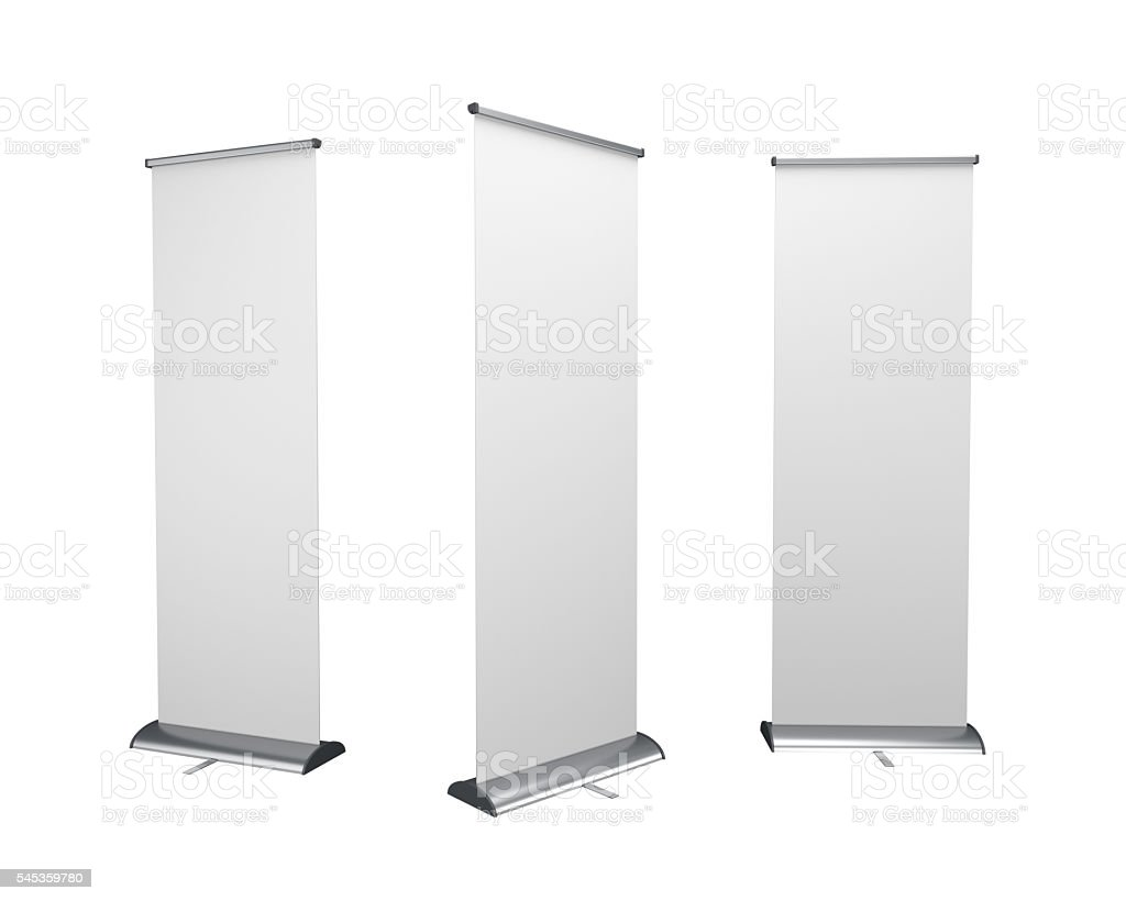rollup or banners on white stock photo