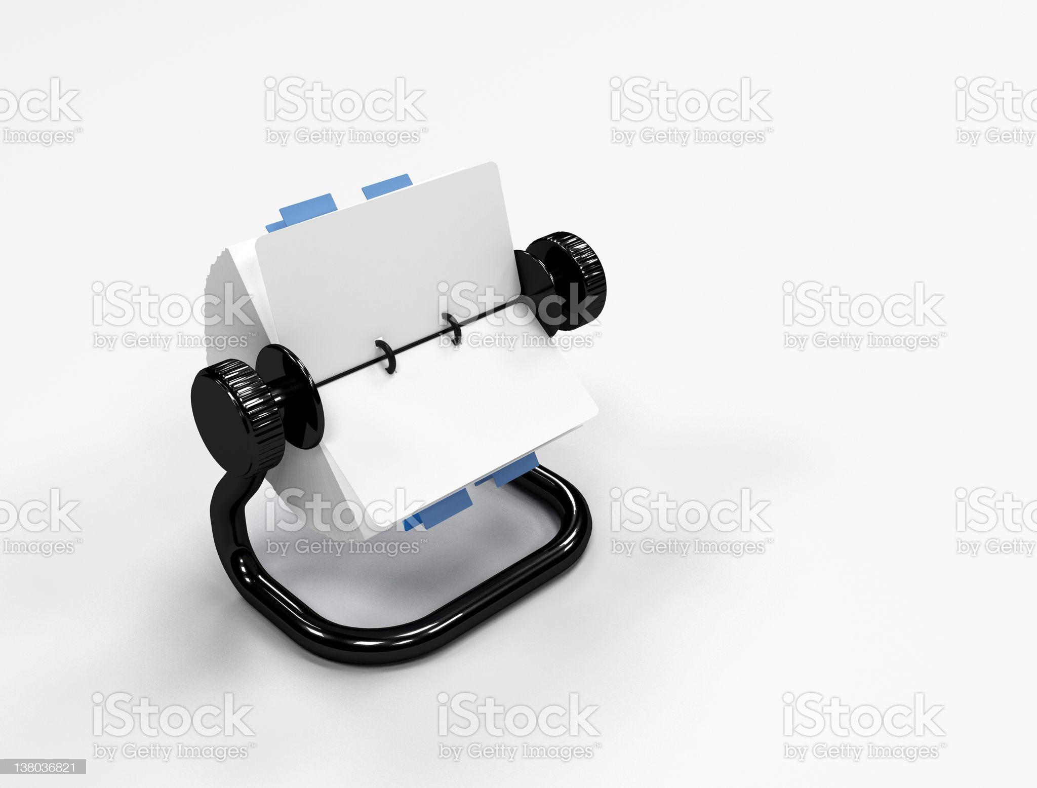Rolodesk - Office supplies royalty-free stock photo