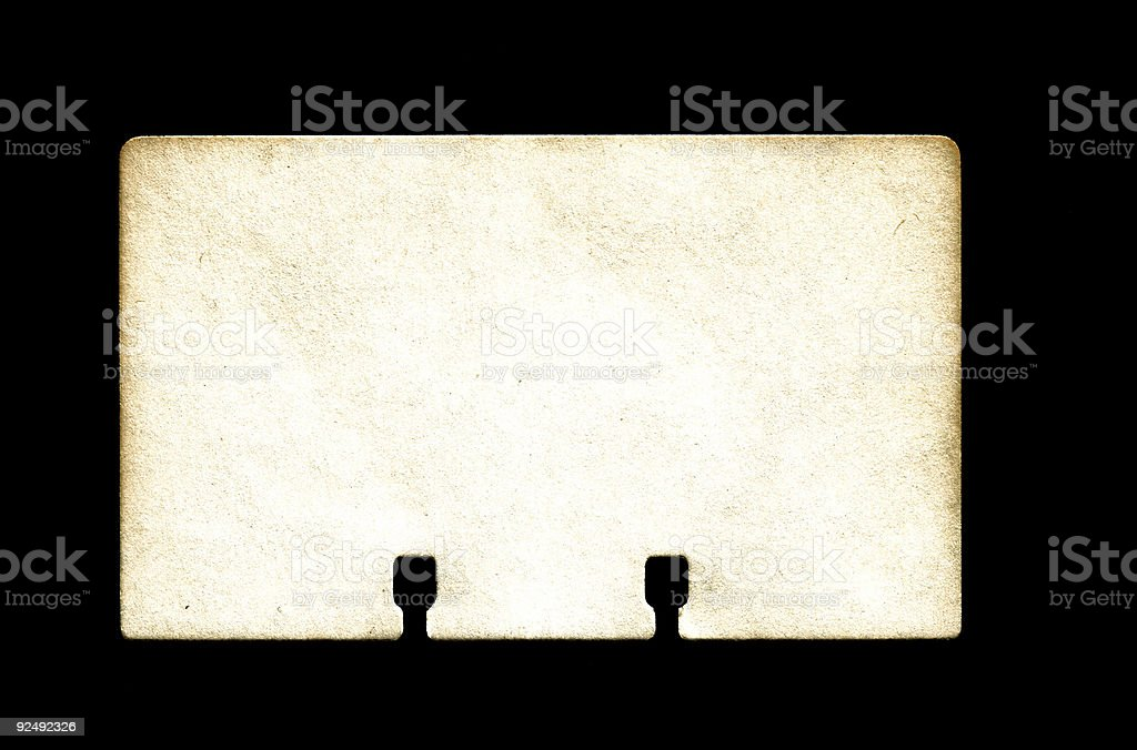 Rolodex Card - Old royalty-free stock photo