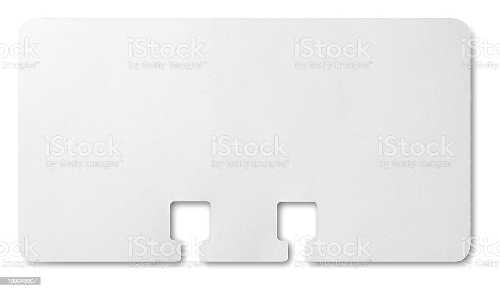 Rolodex Card royalty-free stock photo