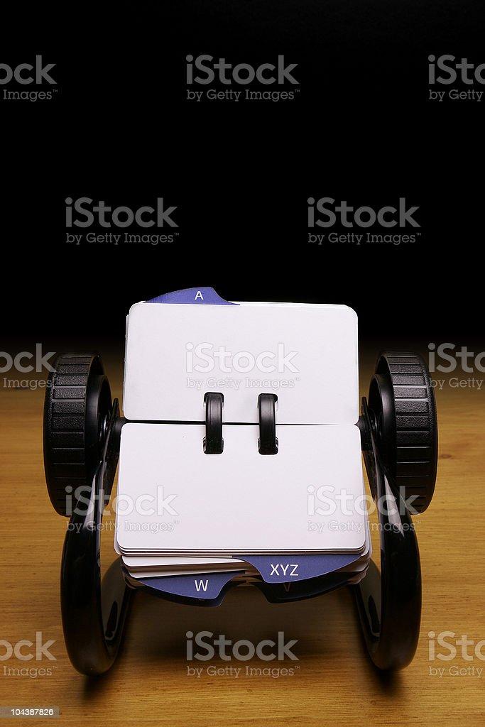 Rolodex stock photo