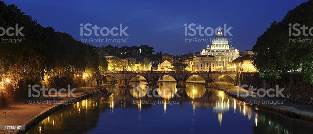 Rom bei Nacht royalty-free stock photo