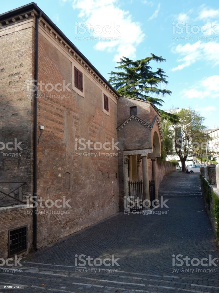 Roma - Accesso di San Clemente stock photo