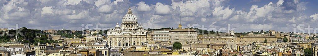 Roma Basilica di San Pietro Città del Vaticano panorama Italia stock photo