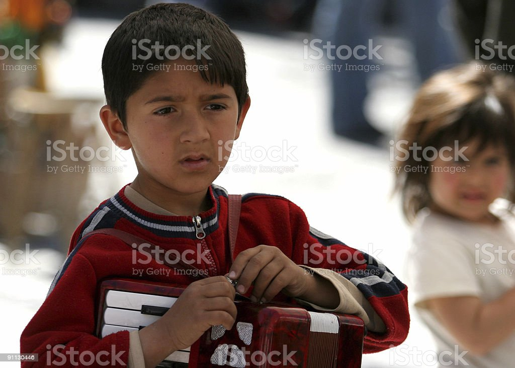 Roma boy in Greece royalty-free stock photo