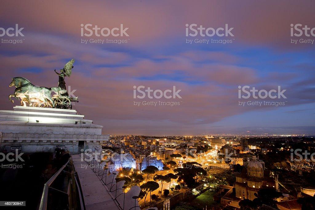 roma by night (montemario's view) - italy stock photo
