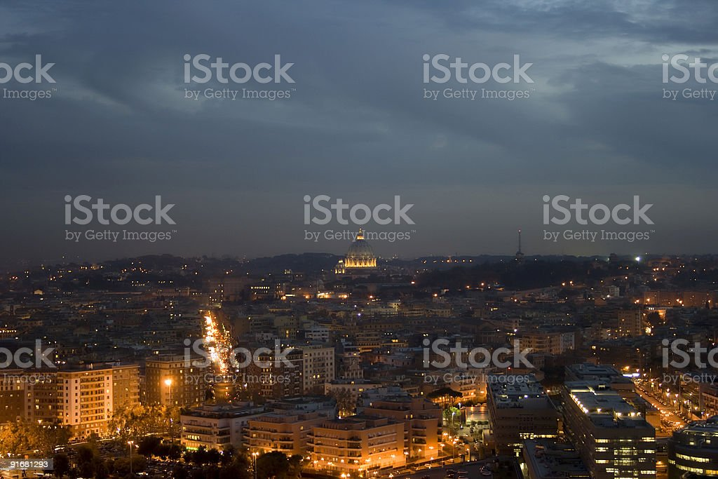 roma by night stock photo