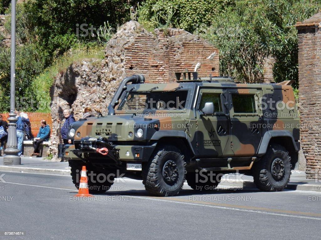 Roma - Camionetta militare stock photo