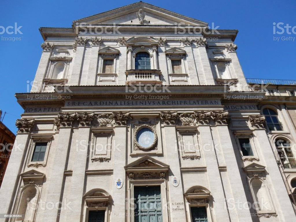 Roma - Chiesa di San Carlo ai Catinari stock photo