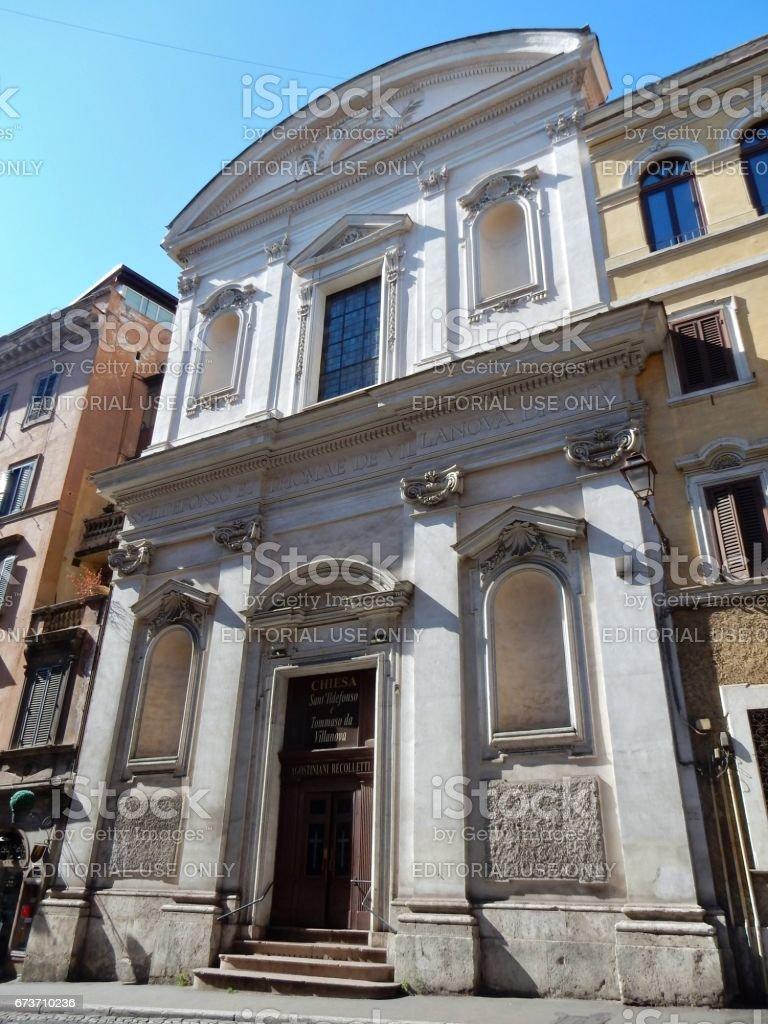 Roma - Chiesa di Sant'Ildefonso stock photo