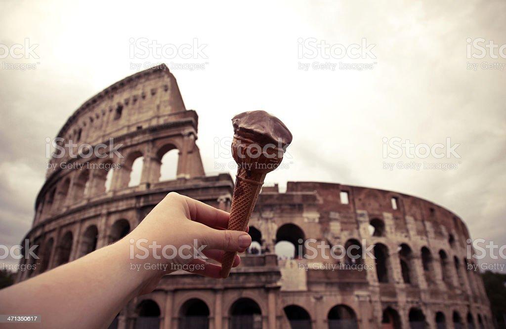 Roma Colosso Gelato royalty-free stock photo