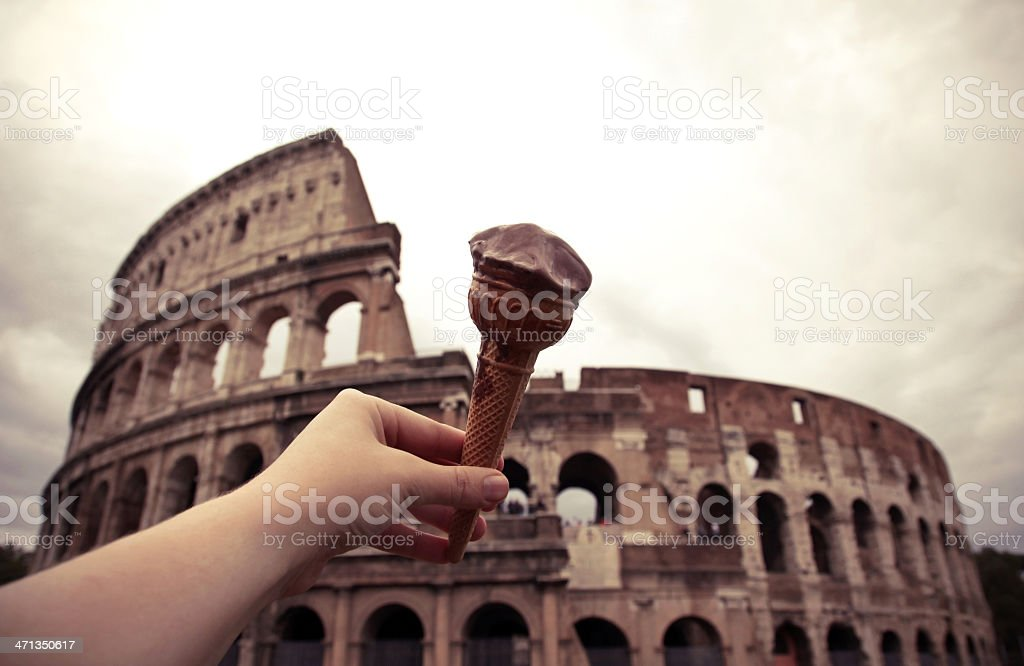 Roma Colosso Gelato stock photo