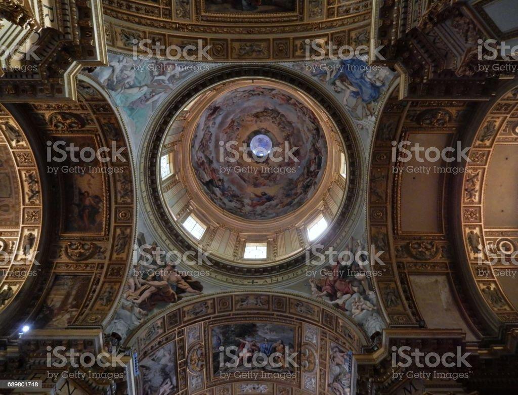 Roma - Cupola della chiesa di San Carlo ai Catinari stock photo