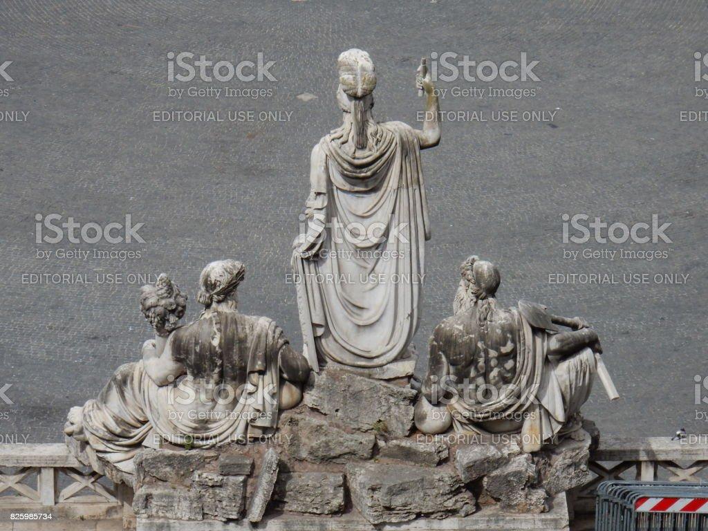 Roma - Fontana della Dea Roma dal Pincio stock photo