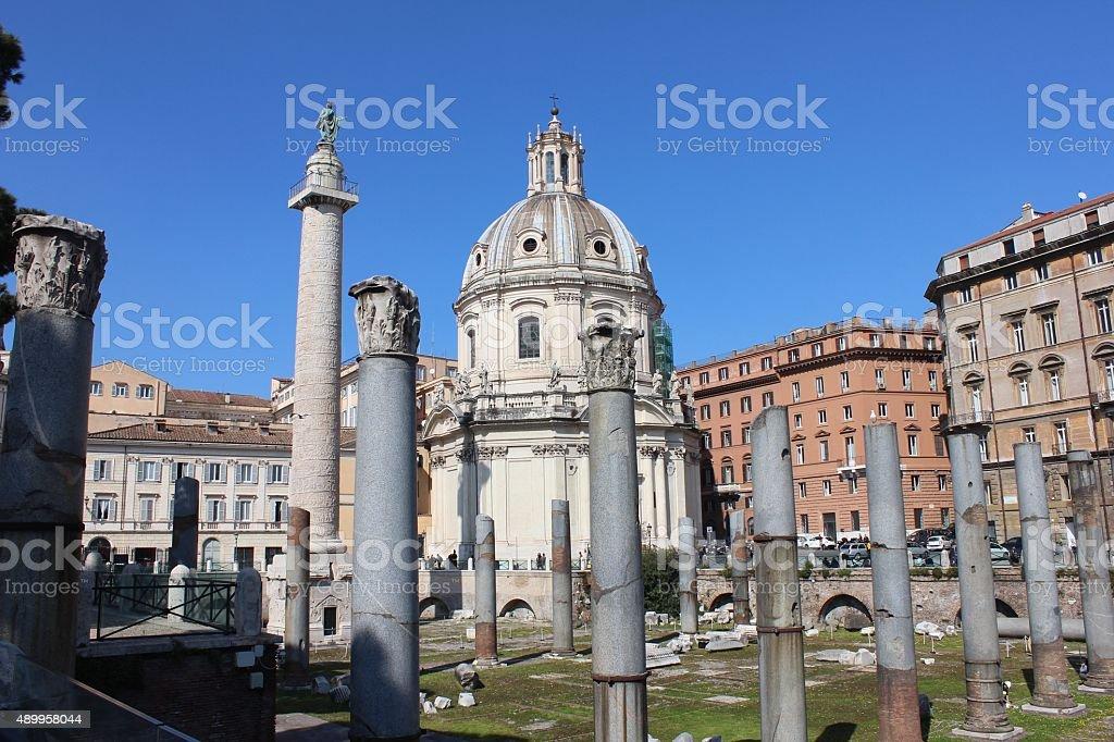 Roma fori imperiali stock photo