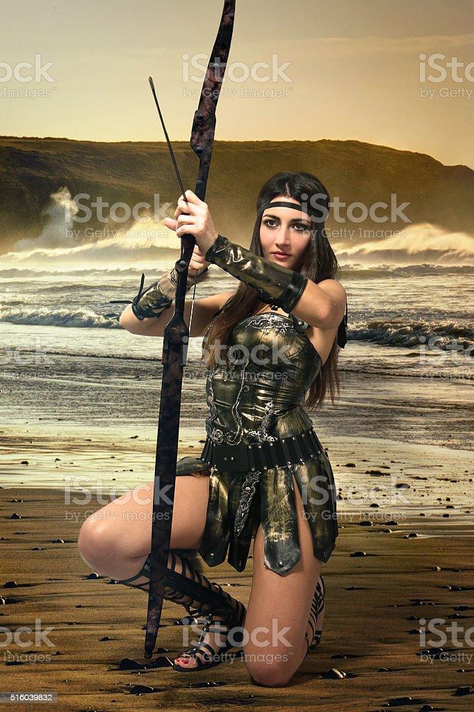 roma girl stock photo