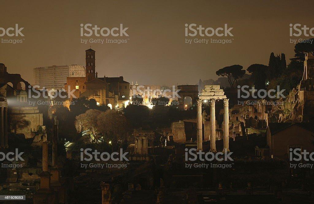Roma in notturno stock photo
