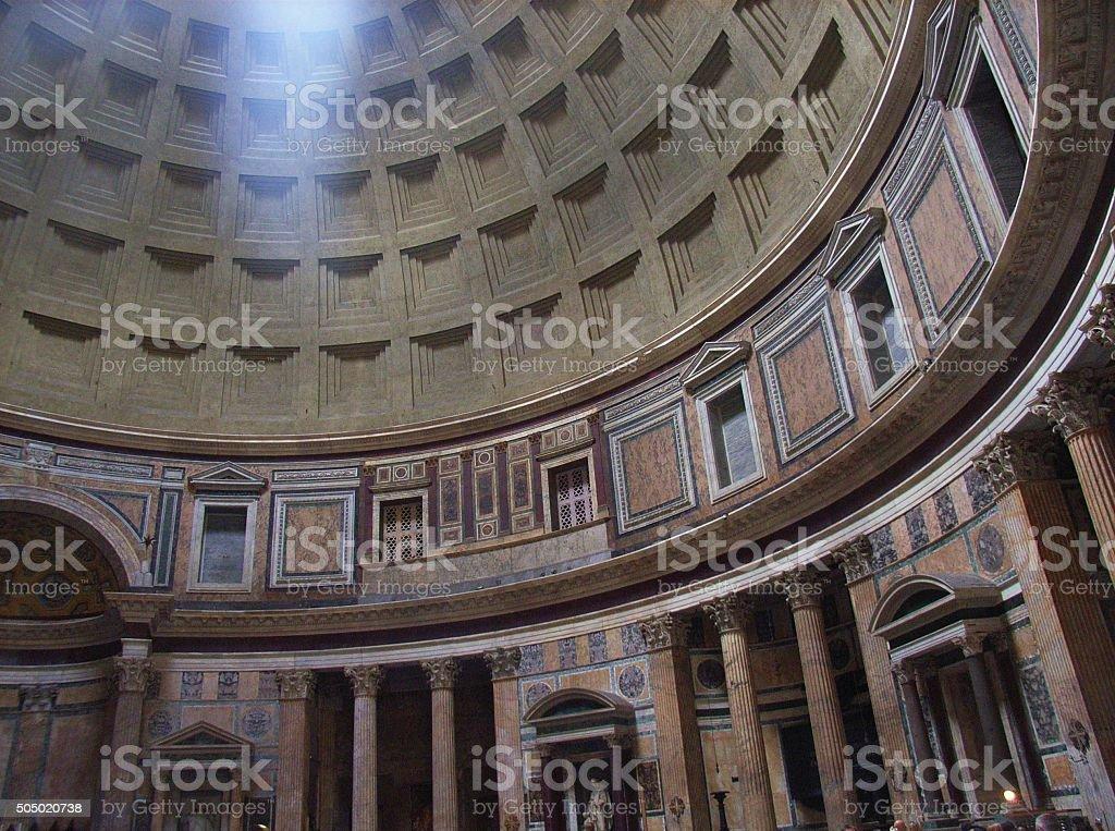 Roma - Interno del Pantheon stock photo