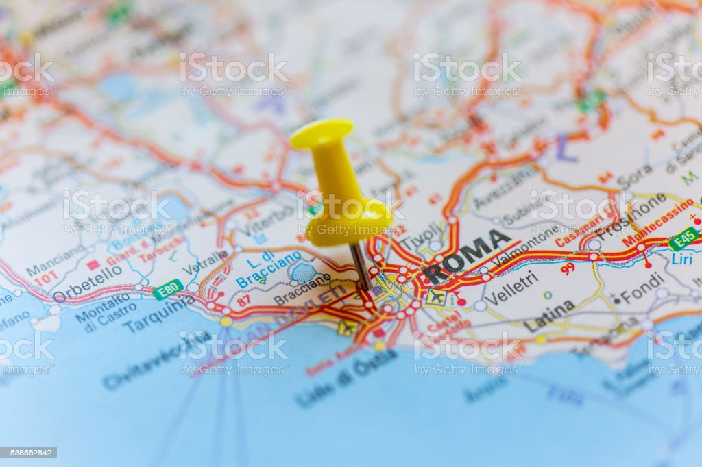 Roma map stock photo