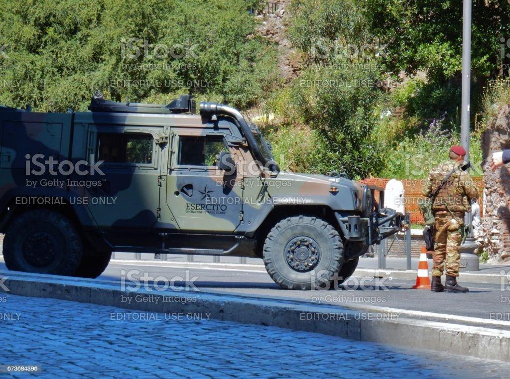 Roma - Operazione strade sicure stock photo