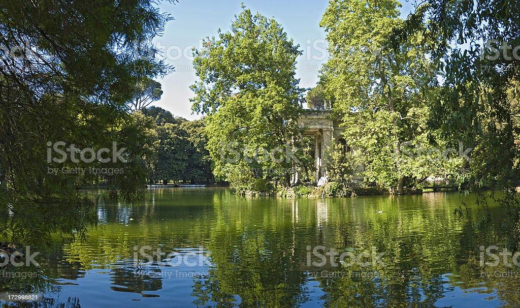 Roma Parco della Villa Borghese royalty-free stock photo
