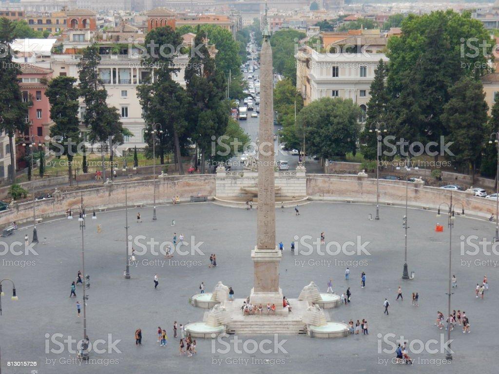 Roma - Piazza del Popolo dal Pincio stock photo