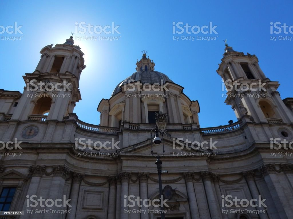 Roma - Sant'Agnese in Agone stock photo