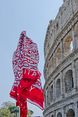 Roma Scarf and the Colosseum