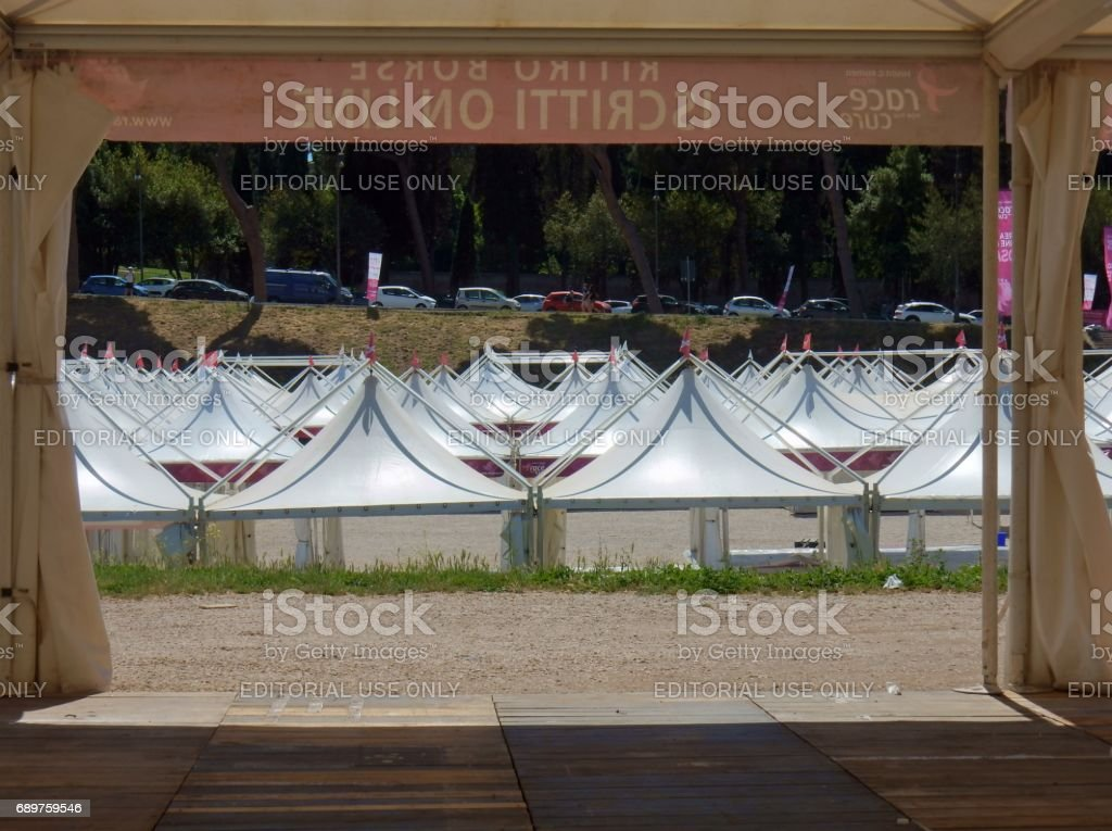 Roma -  Stands del Race for the Cure stock photo