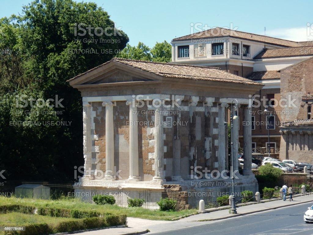 Roma - Tempio di Portuno stock photo