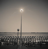 Roma Termini railway station in the evening, outside