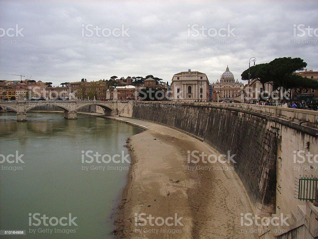 Roma - Tevere e San Pietro stock photo
