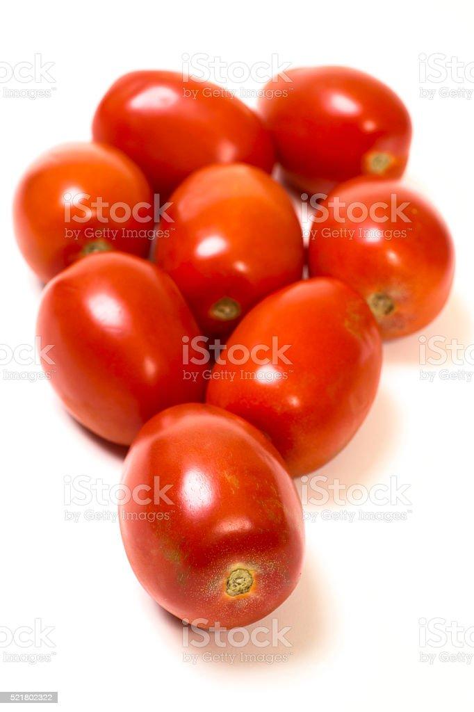 Roma Tomatoes Isolated on White stock photo