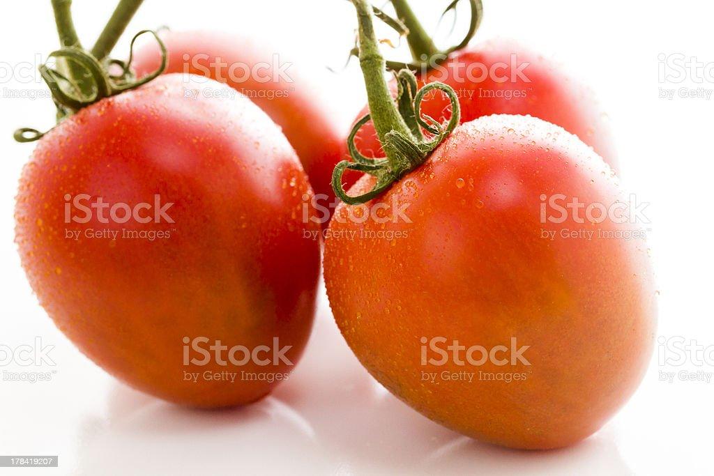 Roma tomatoes stock photo