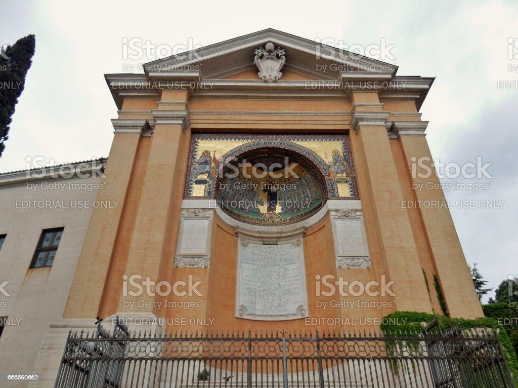 Roma - Triclinio leonino stock photo