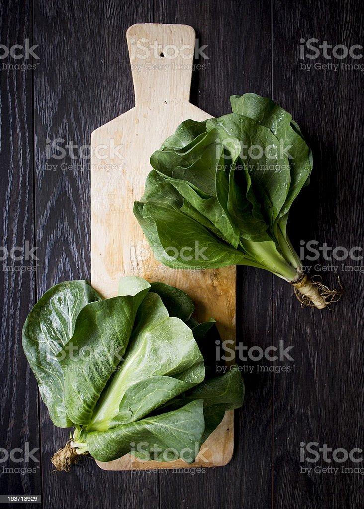 Romaine lettuce. royalty-free stock photo