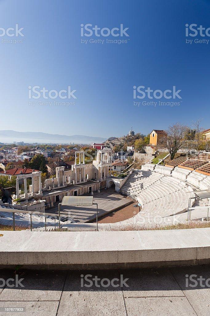 Roman Amphitheater From Plovdiv, Bulgaria stock photo