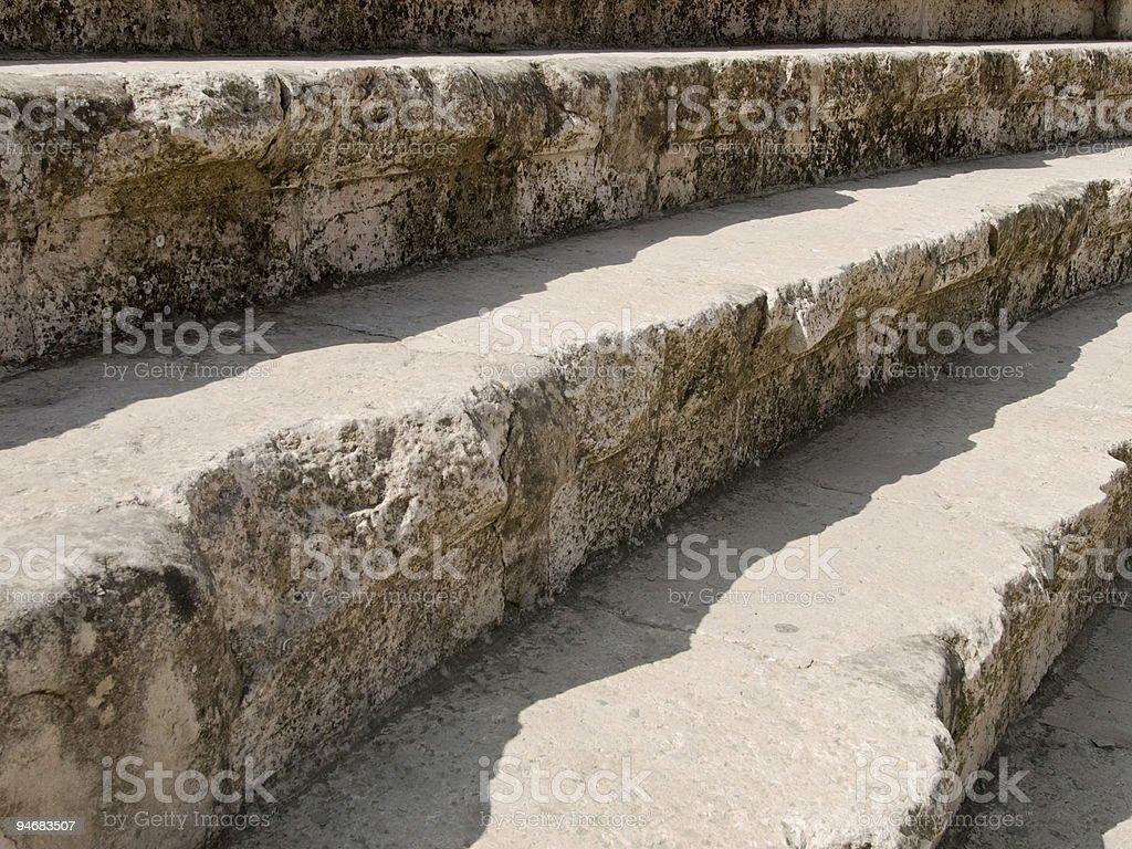 Roman amphitheater in Amman, Jordan royalty-free stock photo