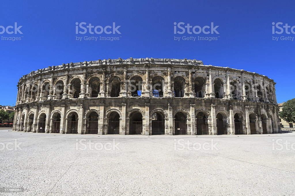 Roman Amphitheater in Nimes, France royalty-free stock photo