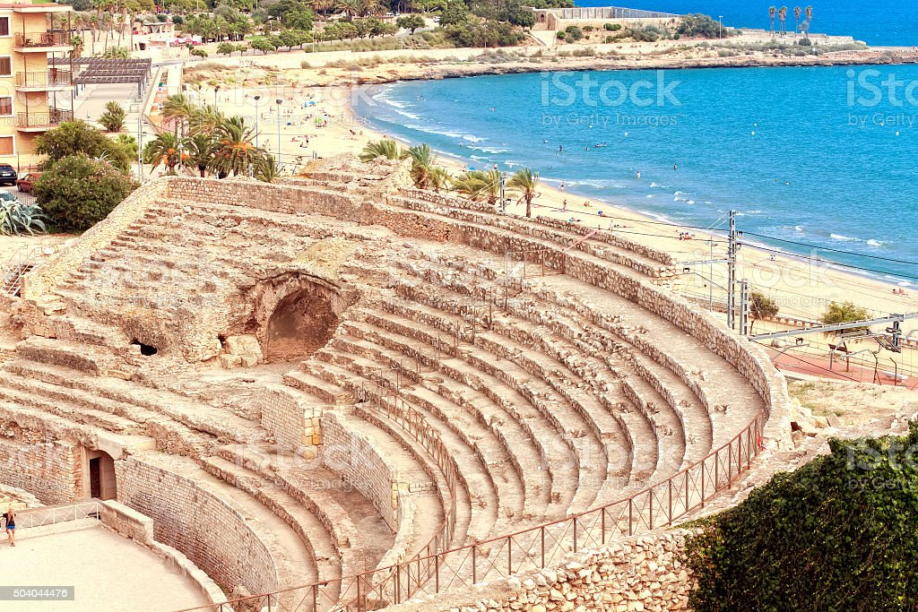 Roman amphitheater of Tarragona.Catalonia .Spain stock photo