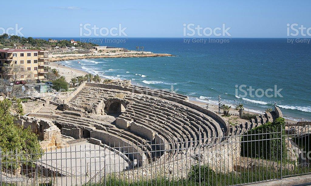 Roman amphitheater of Tarragona.Catalonia.Spain stock photo