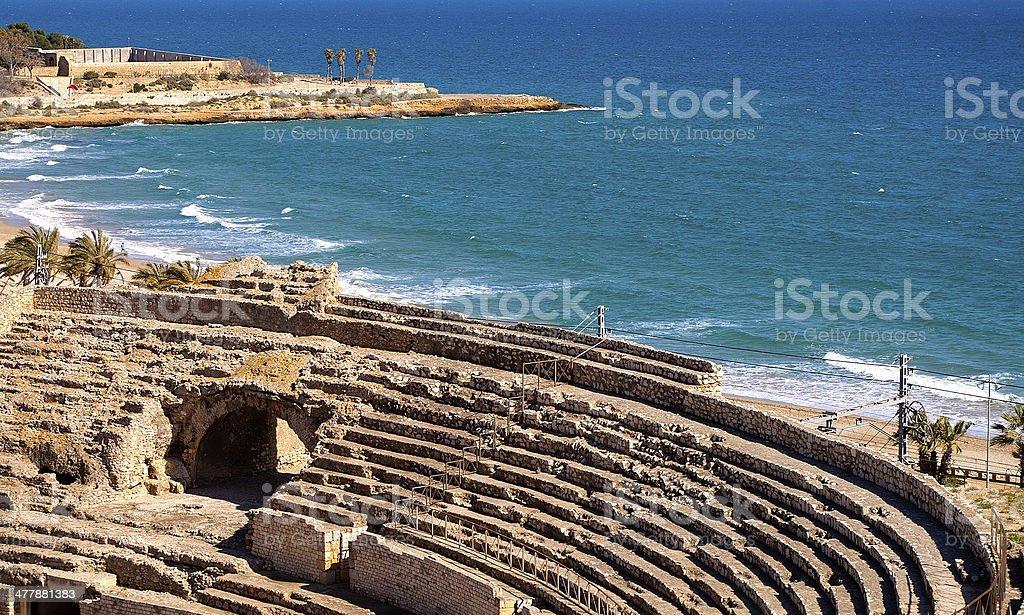 Roman amphitheater of Tarragona.Spain stock photo