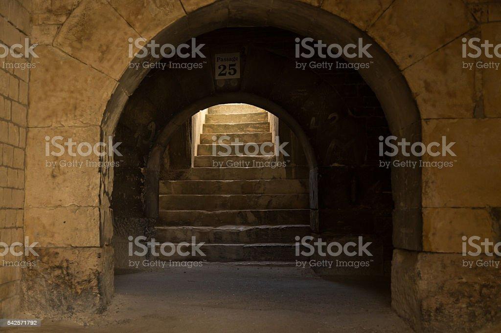 Roman amphitheater stock photo