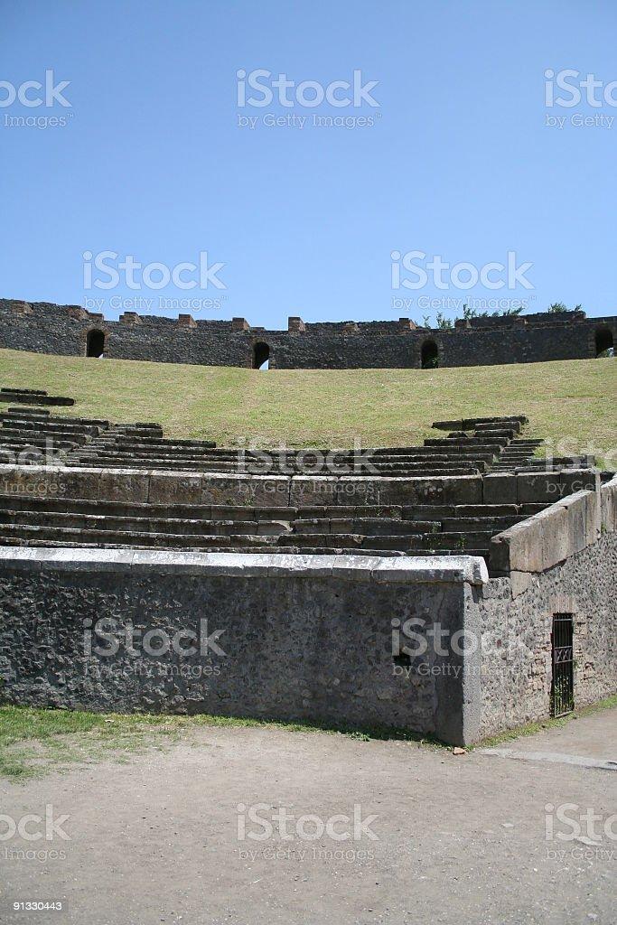 Roman Amphitheater, Pompeii, Italy royalty-free stock photo